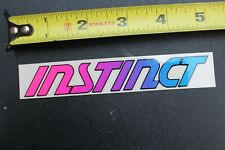 Instinct Surfboards Shaun Tomson Pink Blue Fade 80's Vintage Surfing Sticker