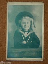 Vintage Postcard: Young Girl in Sailor Uniform, RP