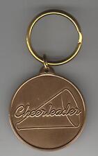 Cheerleader megaphone cheerleading High School bronze engravable key chain