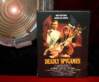 DEADLY SPYGAMES Cult Classic, BOND Spoof, Tippi Hedren, Troy Donahue DVD, Signed