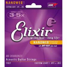 3 sets Elixir 11027 Nanoweb Cordes pour Guitare Acoust 11-52