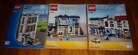 Lego 60047 Instruction Manuals City Police Station 31026 bike shop cafe LOT OF 3