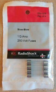 NEW! RadioShack 1/2 Amp 250 Volt Slow-Blow Fuses 2701018 *FREE SHIPPING*
