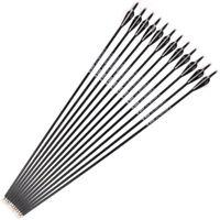 Spine 500 Archery Carbon Arrows 32'' Hunting Compound Recurve Bow 6/12/24Pcs