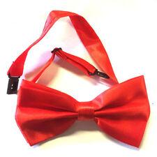 Cravatte da uomo in raso rosso