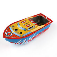 Vintage Retro Steam Boats Pop Candles Powered Put Put Ship Collec table Tin Toy