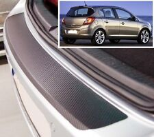 Vauxhall/Opel Corsa D - Carbon Style rear Bumper Protector