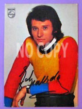 Autographe Johnny Hallyday Signature originale carte postale années 70 Rare