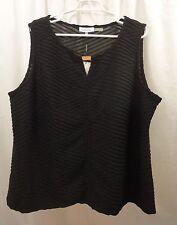 Women's Calvin Klein Plus Size Textured  Shirt  2X