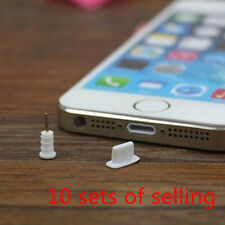 20 Set Silicone Anti Dust Cap Earphone Plug Stopper for iPhone 6/6 Plus/5/5s Hot White