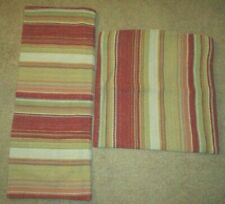 Pottery Barn 2 Pillow Covers Wool Blend Serape Stripe Rug Texture Lined