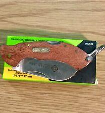 Greenlee Folding Knife Hawk Bill 2-5/8 Inch Blade Rosewood Handle 0652-28