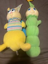 Lot of 2 Vintage Hasbro Preschool 1982 Original Gloworm Globug Glow Worm