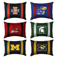 NCAA COLLEGE TEAM PILLOW SHAM - Sports Team Logo Jersey Mesh Bed Pillow Cover