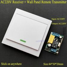 Wireless Remote Control Switch AC 220V Receiver Wall Panel Transmitter Home Tool