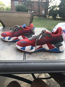 Puma RS-X Retro 371511-01 Men's Size 8 Red/Blue/Gray/White Shoes