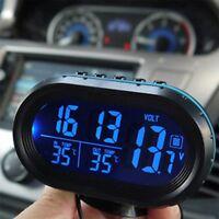 Car LED Backlight Digital Display 2 Thermometer Voltmeter Alarm Clock Date YS