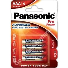 4x Panasonic AAA Pro Power Alkaline Batteries 2028 Expiry LR03 MX2400 MICRO