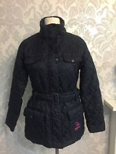 Rydale equiestrian 12 womens jacket belted blue padded riding stableyard P