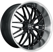 "22"" MRR GT1 Wheels Fits BMW 740i 750i 750Li 7-Series Deep Dish Black Rims (4)"
