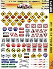 MG3450 Ultracal Street and Train Track Signs Decals for 1:24 Scale Applications