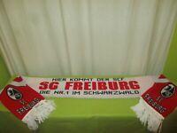 """SC Freiburg Fan Schal """"HIER KOMMT DER SCF SC FREIBURG DIE NR.1 IM SCHWARZWALD"""""""