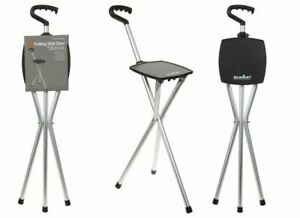 Summit Folding Walking Stick Stool Chair Hiking Camping Holds Up To 100kg 761013
