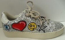 Girls Xti You Make Me Happy Glitter Lace Up Trainers- Size UK 4 EUR 37
