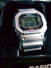 Vintage G-Shock DW-5600E Special Metallic Silver Collectible Rare Limited