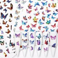 3D Butterfly Holographic Adhesive Nail Stickers Nail Decals Nail Art Manicure