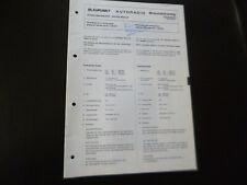 Original Service Manual Schaltplan  Blaupunkt Braunschweig 7639660