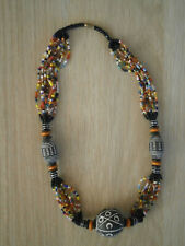 Clay Ornaments from Ghana African Bead Necklace with Terracotta
