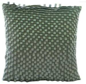 """Decorative 16""""x16""""  Silver & Grey Suede Throw Pillow Cover - Silver Gray Lining"""
