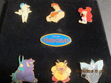 Disney's Hercules Pin set in plastic case 7 pins NEW