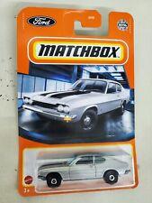 Matchbox 1970 Ford Capri in Silver 1/64 scale diecast