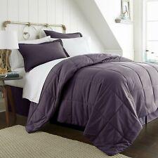 Purple 8 Piece  Bed in a Bag Comforter Sheet Set Shams Bedding Microfiber Linens