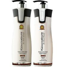 Keratin Cure Chocolate Sulfate Free Argan Aloe Shampoo Conditioner 960 ml 32 oz