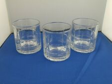 Whiskey Tumbler Set Of 3 Scotch Drinking Glasses Crystal Glass 10.5 Oz