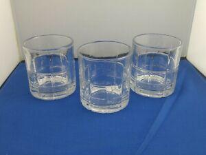 Whiskey Tumbler Set Of 3 Scotch Drinking Glasses Crystal Glass 10.5 Oz