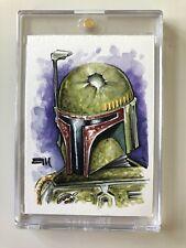 Star Wars Celebration VI Sketch of Boba Fett by Erik Maell