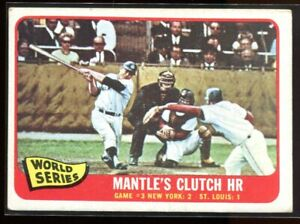 1965 Topps 134 World Series Game 3 Mickey Mantle