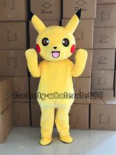 2018 Adult Halloween Pokemon Go Pikachu Mascot Costume Party Cosplay game Dress