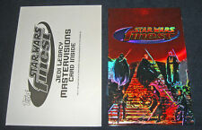 Star Wars Finest Mastervision Jedi Legacy Uncut Foil Chase Card + Topps Envelope