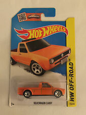 Orange VOLKSWAGEN CADDY - 2013 Hot Wheels Die Cast Car - Mint on Card