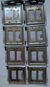 8 GE Brushed Nickel Wallplates Plated Steel 40311 Coordinates with Appliances