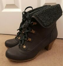 Ladies Black Ankle Boots - Size 6