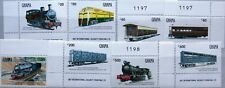 GHANA 1992 1652-59 1392-99 Natl. Railways Eisenbahn Locomotives Trains Züge MNH