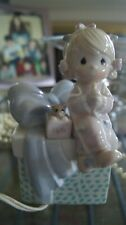 Enesco Precious Moments Little Girl Sitting On Present Night Light - Pre-owned