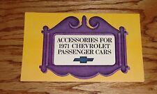 Original 1971 Chevrolet Passenger Cars Foldout Accessories Sales Brochure 71