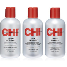 CHI Thermal Care Trio Set of 3 Infra Treatment, Shampoo, Silk Infusion NEW